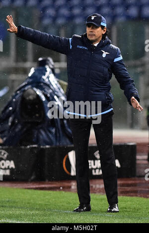 Europa League 16of final round Lazio Steaua Bucarest-Rome - 22  feb 2018 In the picture Head coach Lazio Simone - Stock Photo