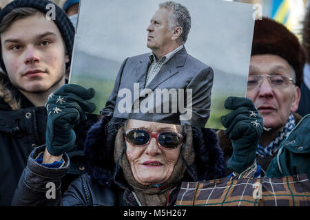 Moscow, Russia. 23rd Feb, 2018. Rally and concert of the Liberal Democratic Party (LDPR) marking the Defender of - Stock Photo