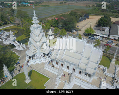 Chiang Rai, Chiang Rai, China. 24th Feb, 2018. Chiang Rai, Thailand-February 2018: The Wat Rong Khun, better known - Stock Photo