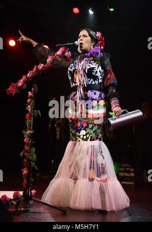 New York, NY, USA. 23rd Feb, 2018. Lila Downs in attendance for Lila Downs in Concert, Playstation Theater, New - Stock Photo