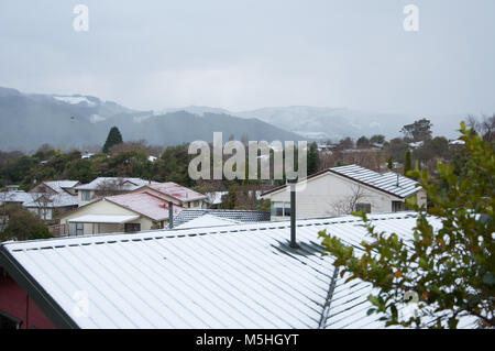 Snow Covered Roof Tops - Stock Photo