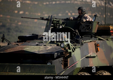 Spanish Marines operate an amphibious assault vehicle during MARFIBEX, an amphibious exercise led by the Spanish - Stock Photo