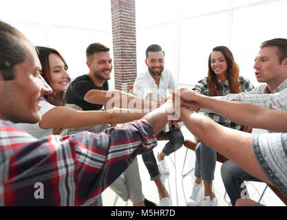 unified business team.the concept of teamwork - Stock Photo
