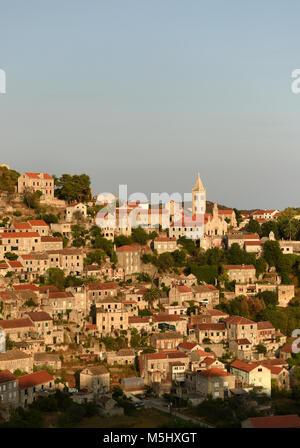 Lastovo old town, Lastovo island, Croatia - Stock Photo