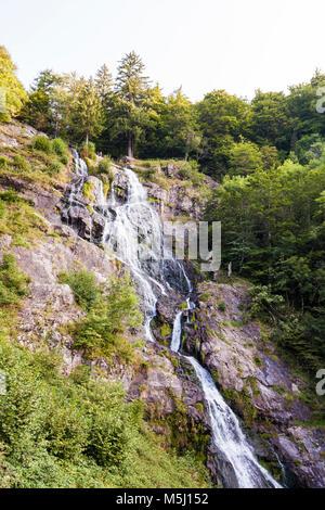 Deutschland, Baden-Württemberg, Schwarzwald, Hochschwarzwald, Todtnau, Wasserfall, Todtnauer Wasserfall - Stock Photo