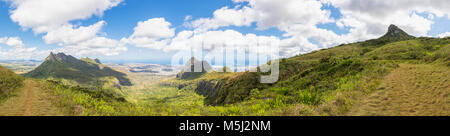 Mauritius, View of Port Louis, Panorama - Stock Photo
