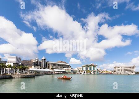 Mauritius, Port Louis, Caudan Waterfront - Stock Photo