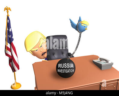 Donald Trump - Russia Investigation - Stock Photo