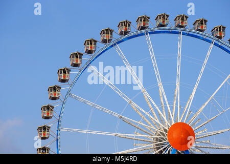 Oktoberfest-Riesenrad, Wiesn, München, Oberbayern, Bayern, Deutschland - Stock Photo