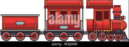 Train toy cartoon - Stock Photo