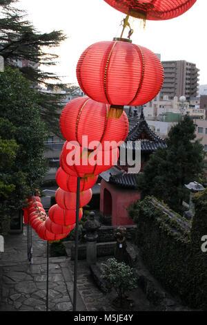Translation: 'Sofukuji Temple', an incorporation of Chinese culture. Taken in Nagasaki, Japan, February 2018. - Stock Photo