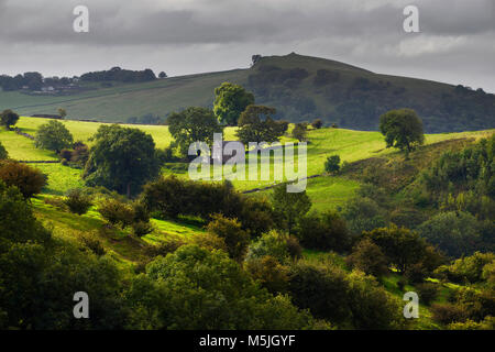 Soles Hill in morning light - Stock Photo