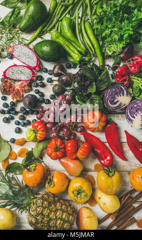 Helathy raw vegan food cooking background, close-up - Stock Photo