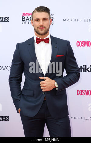 February 22nd, 2018. Sydney, Australia. Luke Casey attends the Cosmopolitan + Tinder annual Bachelor of the Year - Stock Photo