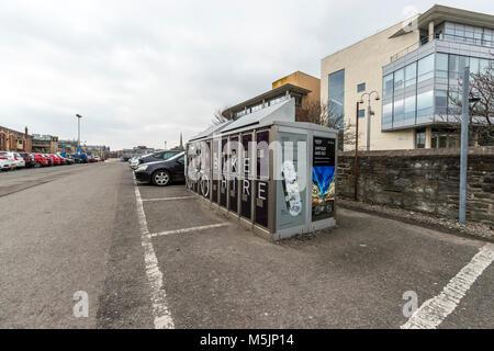 Rent a bike self service, Bristol Temple Meads station. - Stock Photo