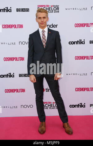 February 22nd, 2018. Sydney, Australia. Tbc attends the Cosmopolitan + Tinder annual Bachelor of the Year Award - Stock Photo