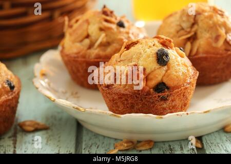 Homemade Granola muffins / Healthy breakfast Concept, selective focus