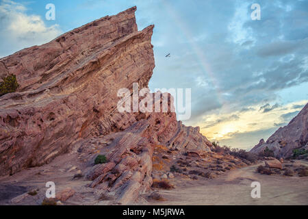 Stunning geological anomaly Vasquez Rocks Natural Area Park, California - Stock Photo