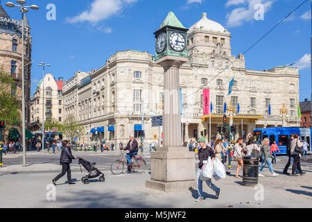 """""""Dramaten"""" the Royal Dramatic theatre at Nybroplan during springtime in Stockhom. - Stock Photo"""