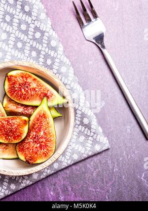 Fresh Figs on a dark background - Stock Photo