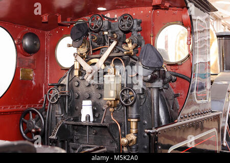 One of (19) images related to Buckingham Railway Centre in Quainton Buckinghamshire.Viewed here is the footplate - Stock Photo
