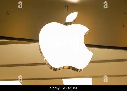 HONG KONG - April 4, 2019: Apple store in Hong Kong. - Stock Photo