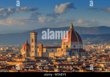 Top view of the Cathedral of Florence - Stock Photo