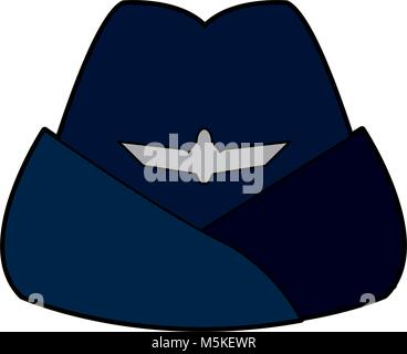 headgear stewardess civil aircraft uniform accessory - Stock Photo