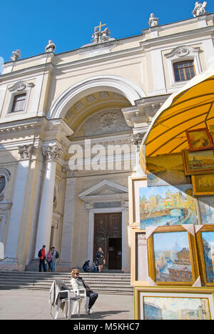 ST - PETERSBURG, RUSSIA - MAY 14, 2011: The Catholic Church of St Catherine on The Nevsky  Avenue - Stock Photo