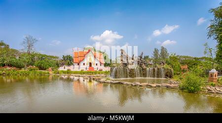 SAMUT PRAKAN, THAILAND, MARCH 2017 - The Wihan at Wat Phumin, Nan, Ancient City, Samut Prakan, Thailand, - Stock Photo