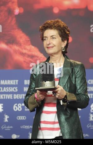 Berlin, Germany. 24th February, 2018. Winner of GLASHÜTTE ORIGINAL – DOKUMENTARFILMPREIS of the 68th Berlinale,Film; - Stock Photo