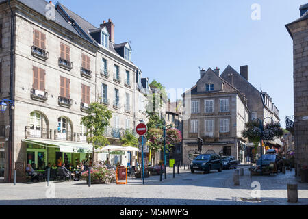 Centre of Aubusson,  Nouvelle-Aquitaine , France, the heart of the 550 year old French tapestry industry  listed - Stock Photo