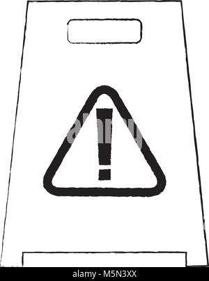 slippery wet floor sign warning cleaning - Stock Photo