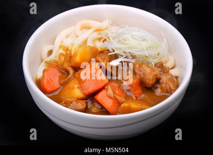 Japanese style curry with udon for every time hungry - Stock Photo