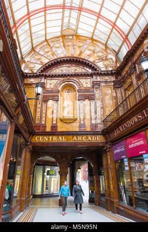 Newcastle England city architecture, view of the interior of the Central Arcade in Newcastle upon Tyne city centre, - Stock Photo