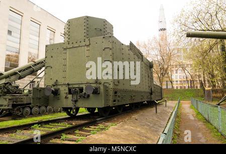 Armoured Russian locomotive class O Ov 5067 Back - Stock Photo