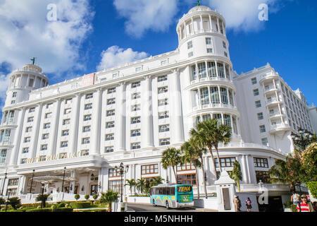 Mexico, Mexican, Yucatán Peninsula, Quintana Roo, Cancun Beach, Hotel Zone, Avenida Kukulkan, Hotel Riu Palace, - Stock Photo