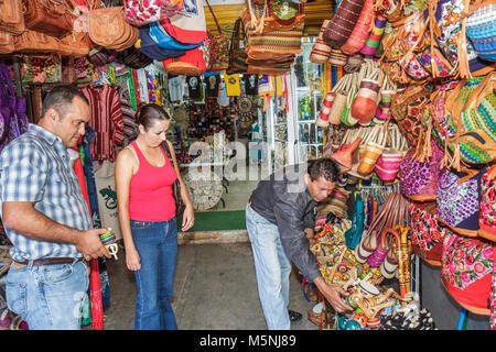 Cancun Mexico Yucatán Peninsula Quintana Roo business Mercado 28 souvenir gift shopping vendor stall handicraft - Stock Photo