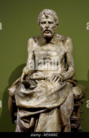 Lucius Annaeus Seneca 1894 by Mateo Inurria Lainosa 1867, Córdoba - 1924, Madrid) was a Spanish sculptor, 19th,century, - Stock Photo