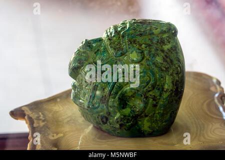 The Jade Head at Belize Altun Ha Mayan Ruins - Stock Photo