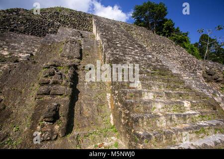 The Belize Lamanai Mayan Ruins - Stock Photo