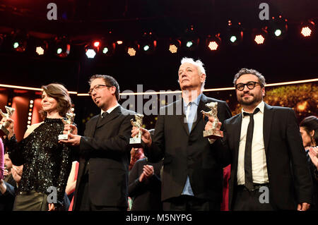 Berlin, Germany. 24th February, 2018. Winners during the award ceremony at the 68th Berlin International Film Festival - Stock Photo