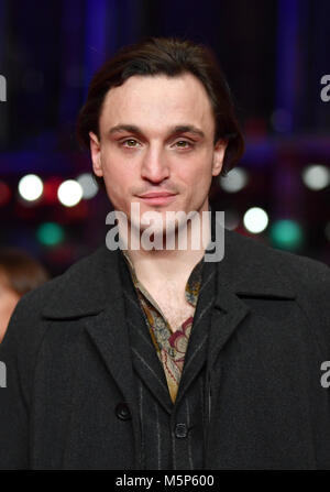 Berlin, Germany. 24th Feb, 2018. 24 February 2018, Germany, Berlin, Award Ceremony, Berlinale Palace: Actor Franz - Stock Photo