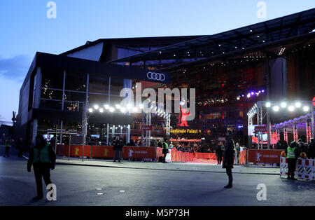 Berlin, Germany. 24th Feb, 2018. 24 February 2018, Germany, Berlin, Award Ceremony, Berlinale Palace: General view. - Stock Photo