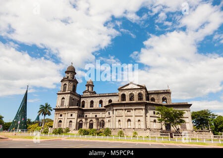 Old Cathedral of Managua. Managua, Nicaragua. - Stock Photo