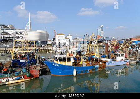 Historic Camber Harbour in Portsmouth Hampshire England UK - Stock Photo