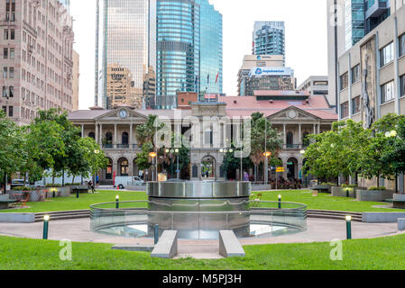 Post Office Square in Brisbane, Queensland, Australia. This is a popular location for people to relax and meet. - Stock Photo