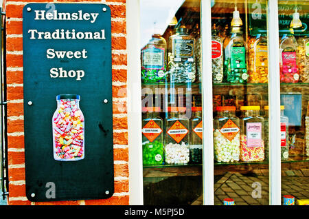 Traditional Sweet Shop, Helmsley, North Yorkshire - Stock Photo