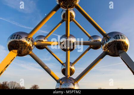 The Atomium in Brussels, Belgium, - Stock Photo