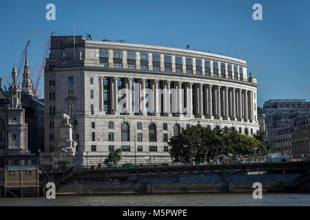 Unilever House Building near Blackfriars Bridge in London - Stock Photo